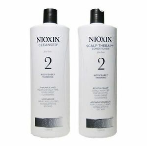 NIOXIN-Shampoo-amp-Conditioner-Litre-33-8oz-duo-Cleanser-Scalp-Therapy-NEW-ONE