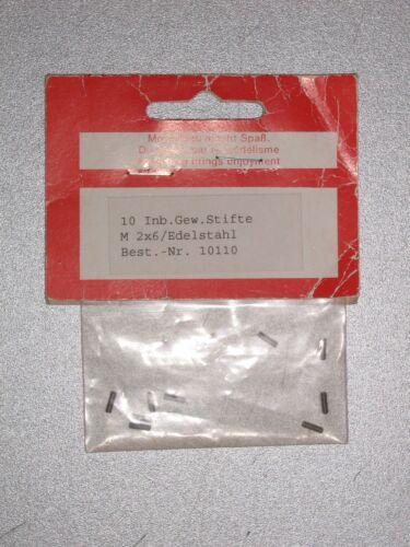 Edelstahl #010110 Innensechskantschrauben Madenschrauben M2x6 10Stk