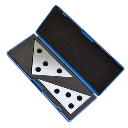 Angle Block Set Machinist Plates 2pcs 45//45//90 and 30//60//90 Degree