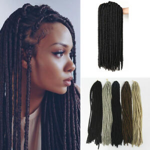 20'' Afro Faux Locs Dreadlocks Synthetic Twist Crochet Braids Hair Extensions