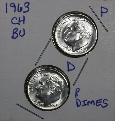 1956 P /& D BU /& Proof Silver Roosevelt Dime 3 coins included Low shipping CP1609