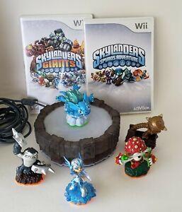 Skylanders Spyros Adventure And Skylanders Giants Wii Discs Portal and 4 Fig. VA