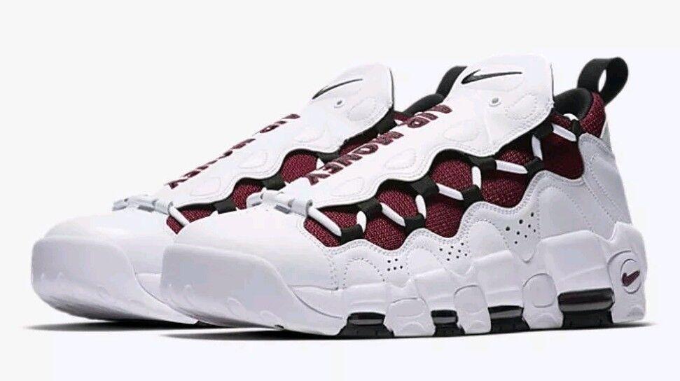 NIKE AIR MORE MONEY  White/Black-Team Red  AJ2998 100  Men's Comfortable Wild casual shoes
