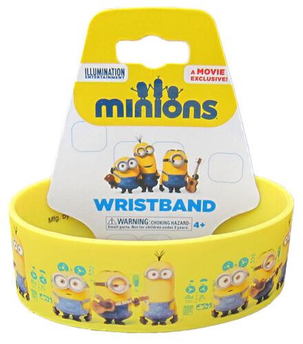 and Kevin Rubber Wristband ~ Licensed Stuart Despicable Me Minions Bob