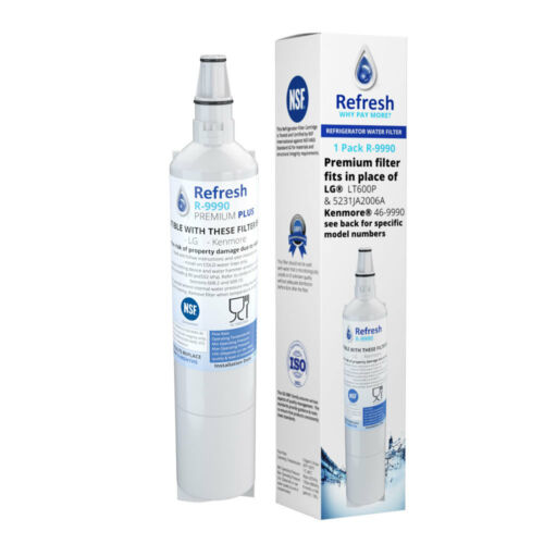 2 Pack Refresh Replacement Water Filter Fits LG Icee RFC1000A Refrigerators