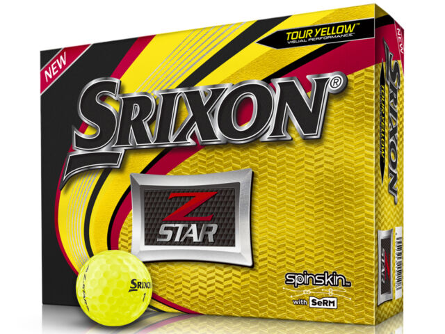 Srixon Z-Star 2019 Golf Balls - 1 Dozen Yellow -  Mens