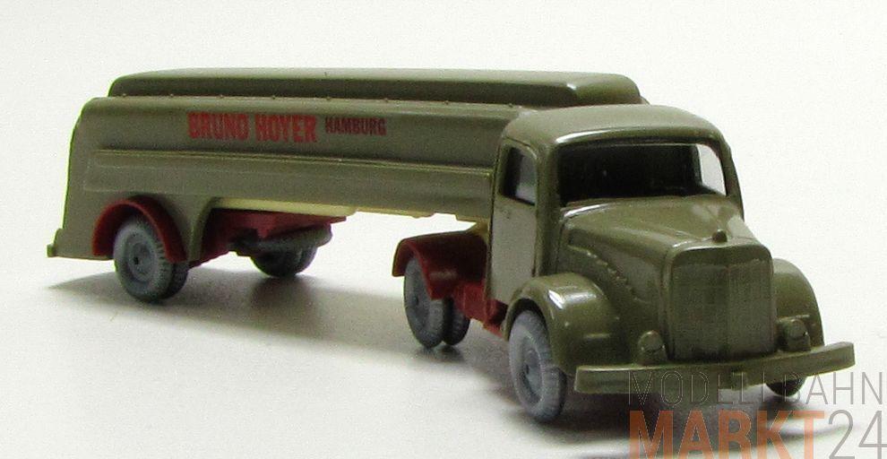 Mesureur réplique MAGIRUS rundhauber camion avec remorque  BRUNO HOYER  en vert h0 1 87