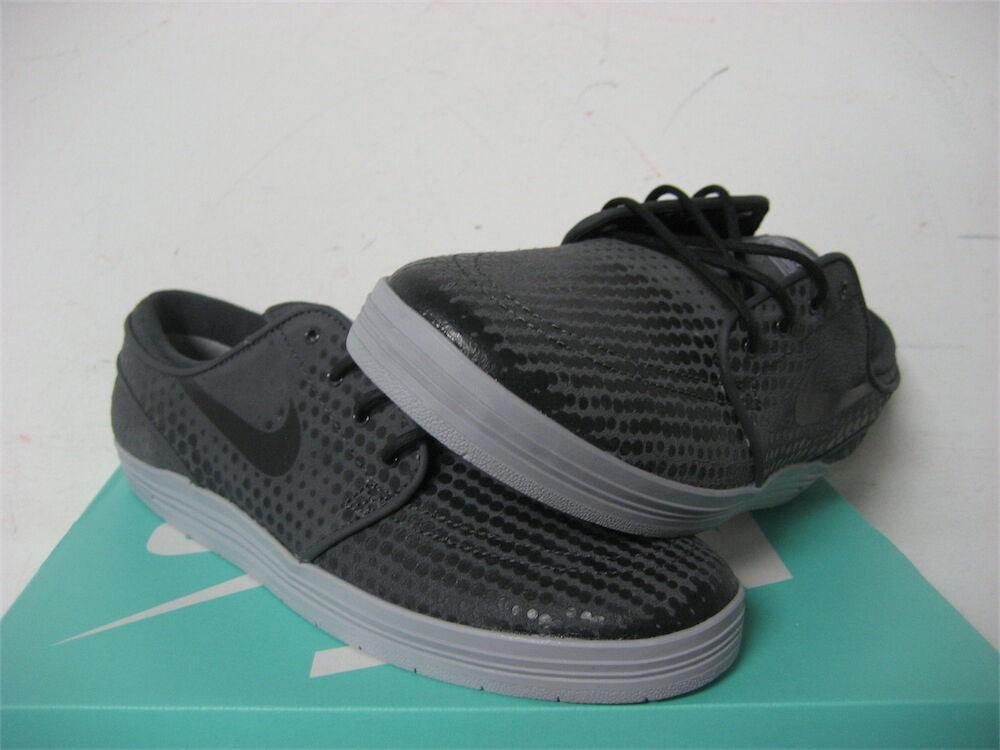 Nike SB Lunar Janoski Anthracite Black Wolf Grey Sz 9 654857-002