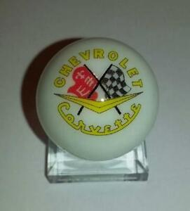 "Great Chevy Corvette Glass 1/"" Logo Marble With Stand"