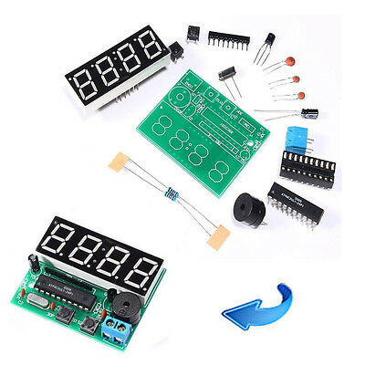 New C51 4 Bits Digital LED Electronic Clock Production Suite DIY Kits Set JUST