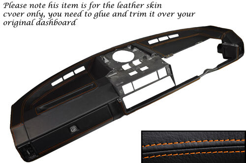 RED STITCH DASH DASHBOARD LEATHER SKIN COVER FITS LAND ROVER DEFENDER 07-14