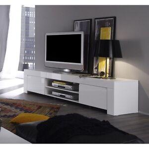 Mobile base Porta tv Amalfi 190 cm grande laccato bianco lucido ...