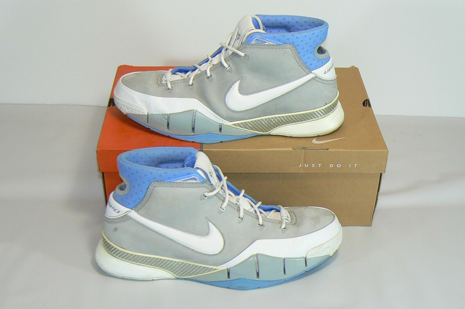 Kobe Nike Uptempo Zoom 1 Size 13 Men's MLPS edition Flint Grey Univ bluee