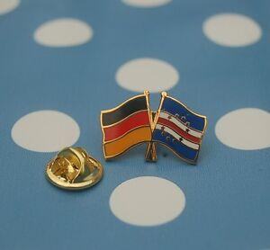 Freundschaftspin-Deutschland-Kap-Verde-Pin-Button-Badge-Anstecker-Afrika