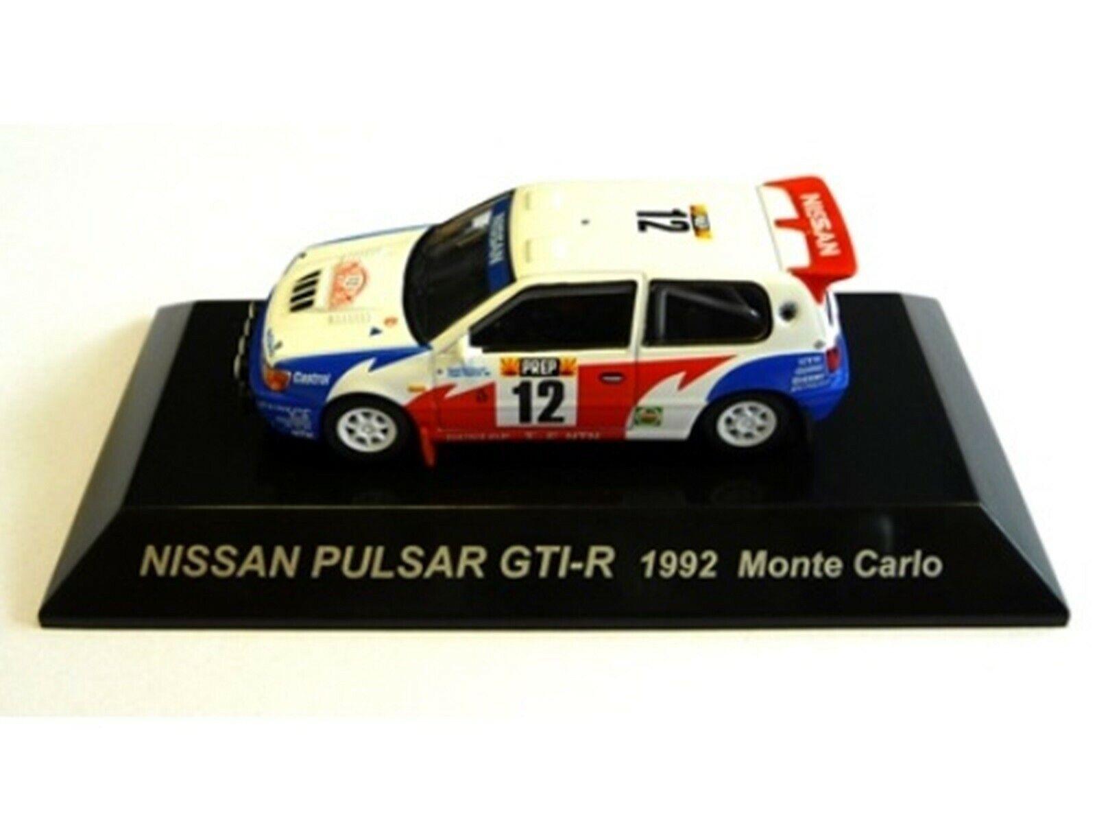 Wow extrêmement rare Nissan 1992 Pulsar GTI-R Makinen M. Carlo WRC 1 64 cm 'S KYOSHO