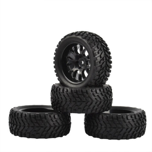 1//10 RC Rally Car Grain Rubber Tyres Off-road Tires and Wheels for Traxxas 4PCS
