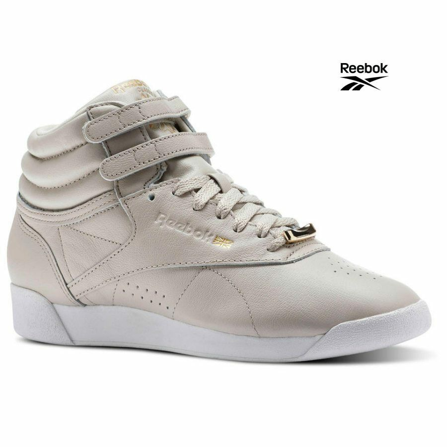 Reebok Classics Freestyle Hi Muted Casual Sneakers Chaussures Gris CN1496 SZ 4-12.5
