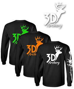 4b179c6b Archery Brand Long Sleeve T Shirt Pound Bow Recurve Crossbow