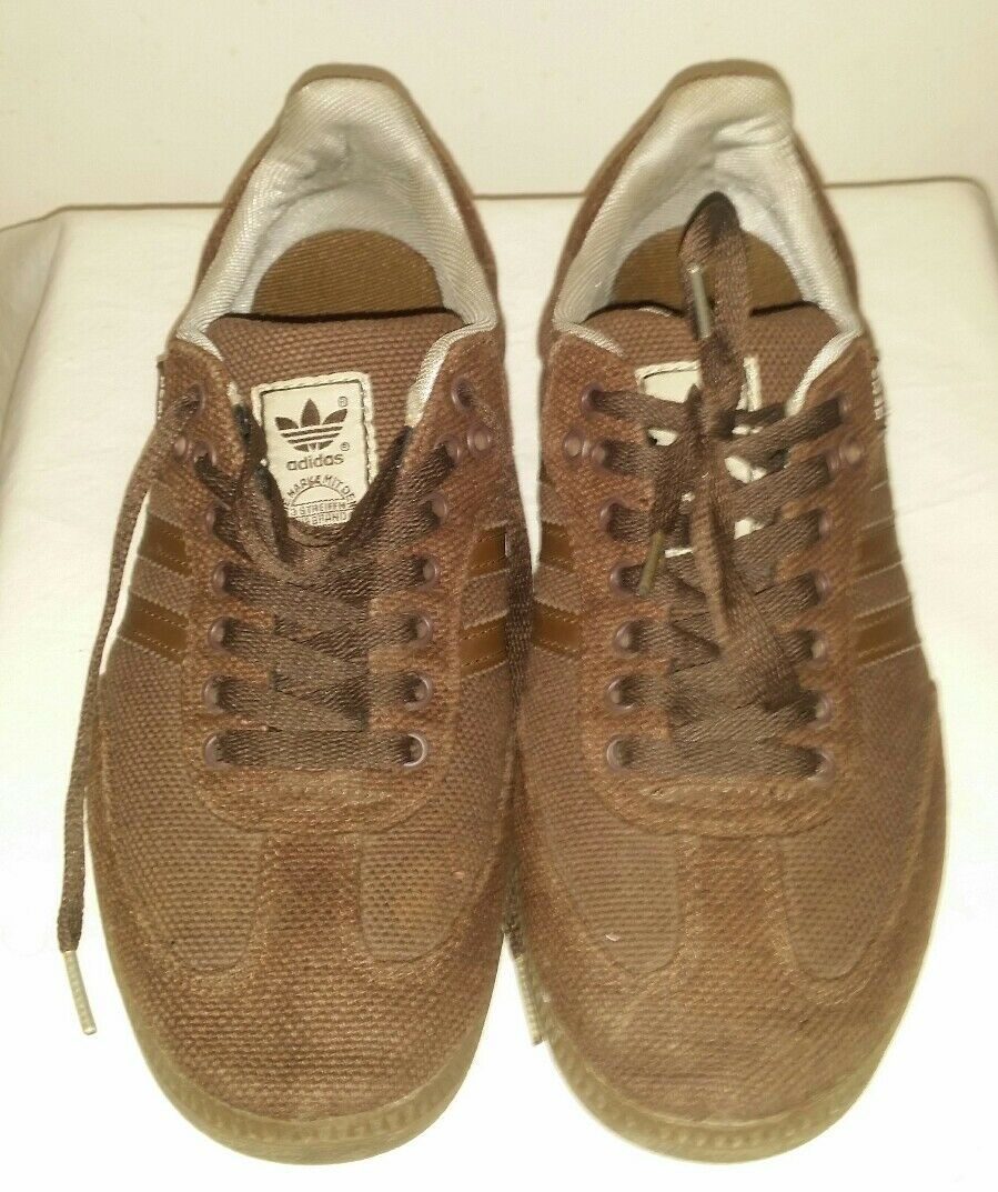 Men's Adidas Samba Hemp Olive Brown Shoes Natural Sneakers Soccer US 8