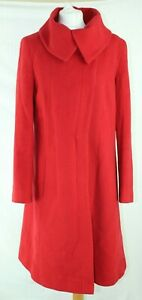 Womens-Hobbs-London-Wool-amp-Cashmere-Blend-Evening-Red-Winter-Coat-Size-14