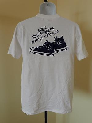 """Neu _ """" I Ran The Grundlagen At Yankee Stadium """" Jugendliche Xl 18 Weiß T-shirt Verhindern Den Teint Zu Erhalten Dass Haare Vergrau Werden Und Helfen"""