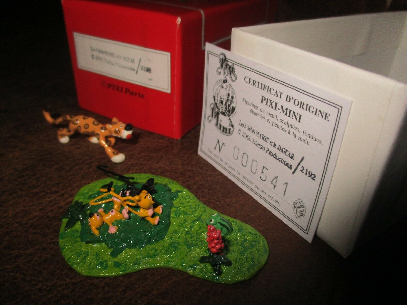 Franquin pixi sc  ne les trois b  b  s marsu et le jaguar bolte & certificat d '