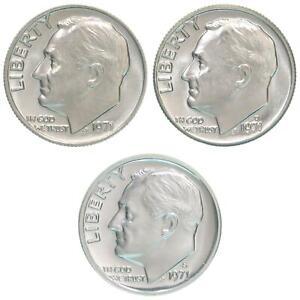 1991 P D S Roosevelt Dime Year Set Clad Proof /& BU US 3 Coin Lot
