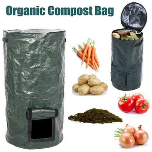 Fertilizer Compost Bin Yard Waste Bag Fruit Kitchen Food Trash Grower-Box Barrel