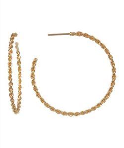 ARGENTO-VIVO-130702-18K-Gold-Plated-Sterling-Silver-Twisted-Open-Hoop-Earrings