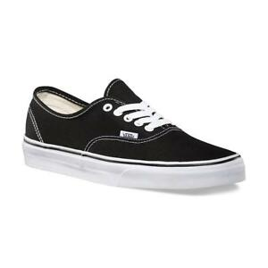 729553cd5a2975 Image is loading Vans-AUTHENTIC-Mens-Womens-Black-White-0EE3BLK-Canvas-