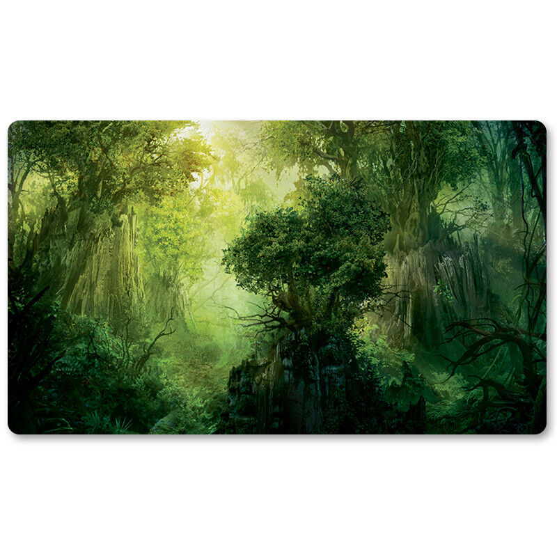 Green-Mana-Fores - Board Game MTG Playmat Games Mousepa