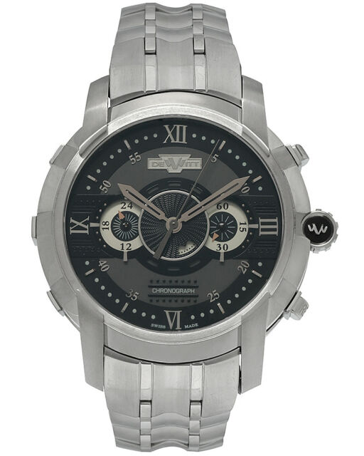 DeWitt Glorious Knight Chronograph Automatic Men's Watch - FTV.CHR.001.S