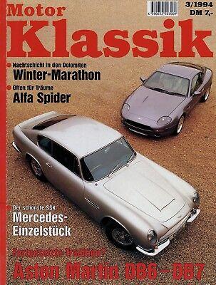 Auto & Verkehr Motor Klassik 3/94 1994 Mercedes Ssk Trossi Alfa Spider Kaufberatung Bmw 502 Db7 Attraktive Designs;