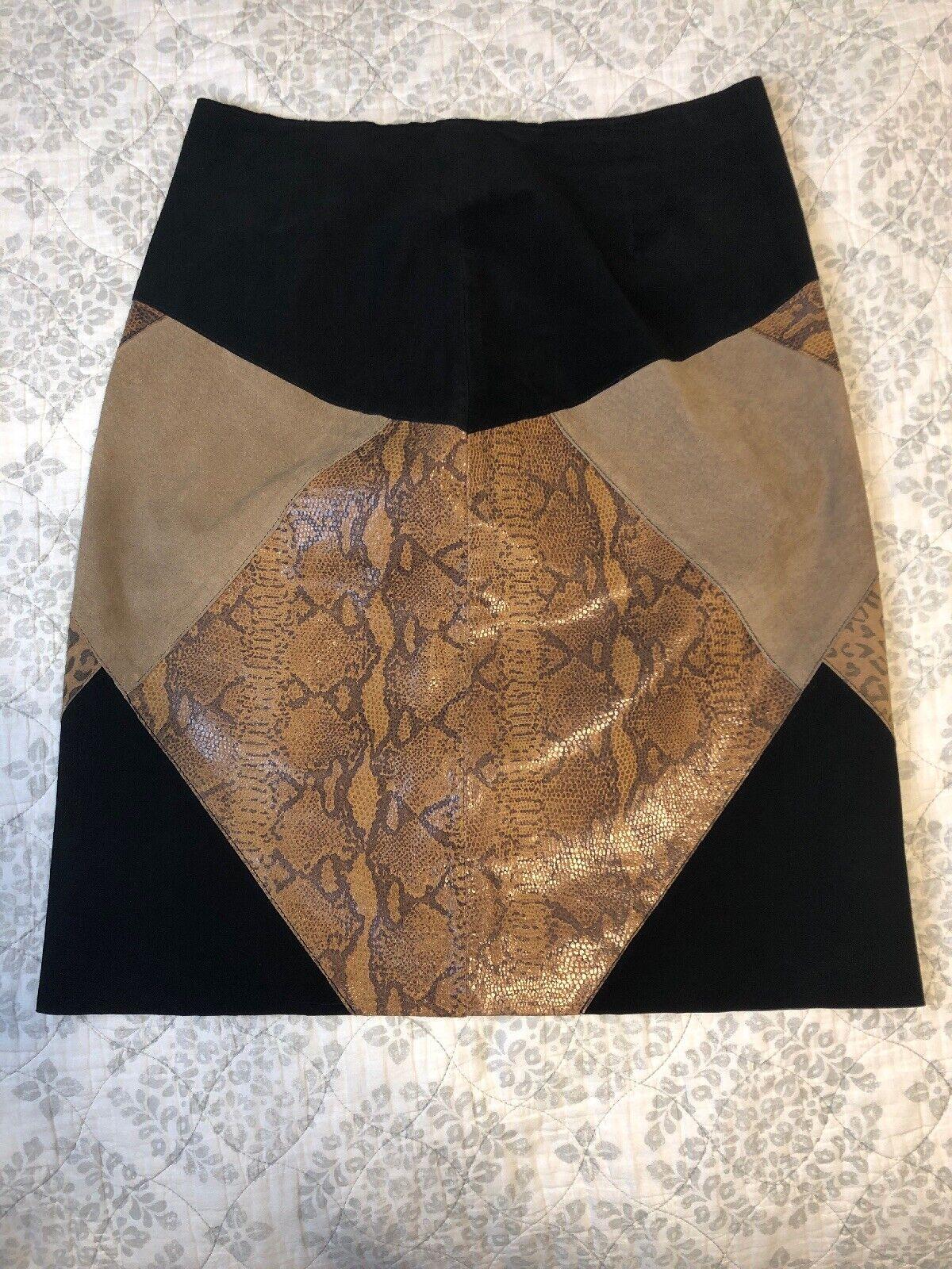 Margaret Godfrey Leather Rock RARE Snake Leopard Patchwork Print daMänner's Größe 8