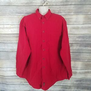Woolrich-Vtg-Size-2XL-Button-Down-Heavy-Duty-Flannel-Work-Hunting-Shirt-Red
