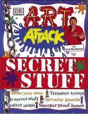 """""""AS NEW"""" """"Art Attack"""" : Secret Stuff:, Neil Buchanan, Book"""