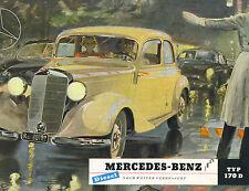 Mercedes Benz  Folder  Type 170 D Sedan   1951  Gotschke Art