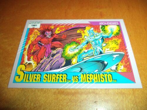 Silver Surfer vs Mephisto # 123-1991 Marvel Universe Series 2 Impel Base Card