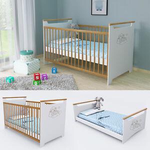 Culla lettino lettino con sbarre letto aggiuntivo letto ragazzi 140x70 cm ebay - Sbarre x letto bambini ...