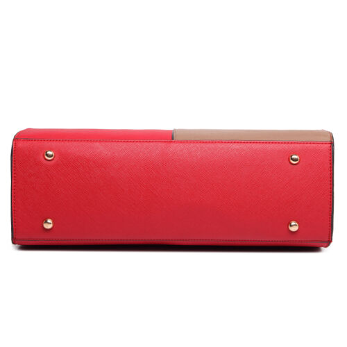 Ladies Designer Long Handle Tote Shoulder Handbag PU Leather Large Bag