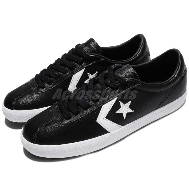 8893cd47d7a6 Converse Breakpoint Low Top Black White Leather Men Women Shoes Sneakers  157776C
