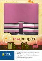 Pink/brown Leather Niv True Images Bible For Teen Girls -zondervan, Rtl.$45
