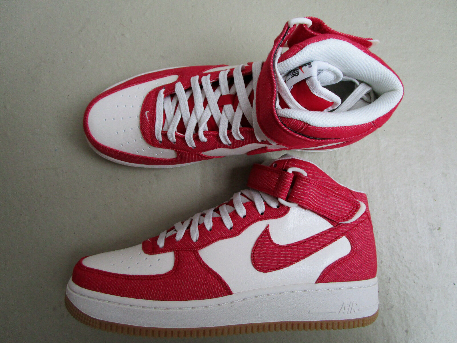 Nike Air Force 1 Mid '07 45 University Red/Sail-Gum Light Yellow