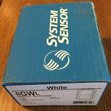 System Sensor Sgwl Fire Alarm White Strobe Single Gang