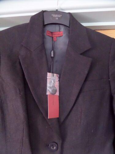 Rrp Entièrement Femme Blazer Doublé Lin 80 Black £ 12 Bnwt Designer 100 Uk wqFZXxv