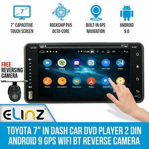 "Elinz Toyota 7"" In Dash Car DVD Player 2 DIN Android 9 GPS WiFi - OUT OF STOCK"