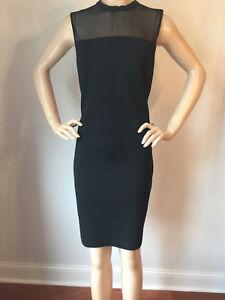 a4635ca414f3 NEW ST JOHN KNIT SZ 8 WOMENS DRESS BLACK CAVIAR MILANO KNIT WOOL ...