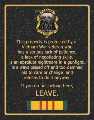 SN 012  Vietnam Veteran warning sign