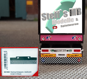 Herpa 051583 Heckspritzlappen für Auflieger LKW Hänger Eigenbau Umbau geeignet