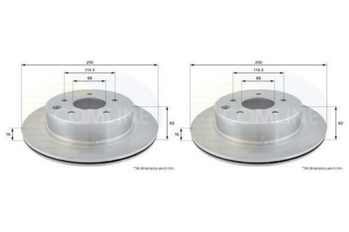 Rear Coated Brake Discs FOR NISSAN 350Z 3.5 02-/>08 CHOICE2//2 Petrol Z33 Comline